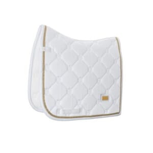 Equestrian Stockholm Dressur Schabrak-White Perfection Gold